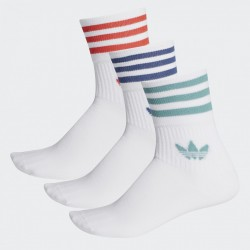 adidas Originals Mid-Cut Crew Socks FM0639 WHITE/WHITE/WHITE