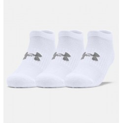 Under Armour Training Cotton No Show Socks 3-Pack 1347094-100