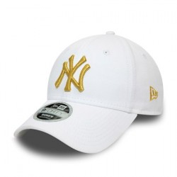 New York Yankees Womens Metallic Logo White 9FORTY Cap 12285202