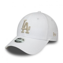 NEW ERA Los Angeles Dodgers Womens Metallic Logo White 9FORTY Cap 12285204