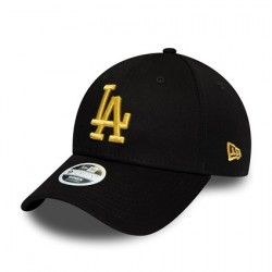 NEW ERA Los Angeles Dodgers Womens Gold Metallic Logo 9FORTY Cap 12285205
