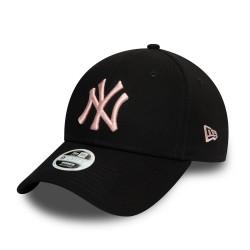 New Era NEW YORK YANKEES WOMENS COLOUR ESSENTIAL BLACK 9FORTY CAP 60081288