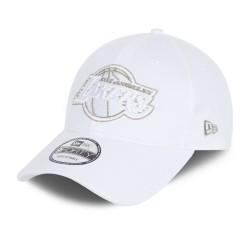New Era Metallic Logo 9Forty Los Angeles Lakers 60112675 White