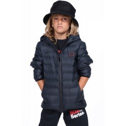 BODYACTION BOYS QUILT PADDED JACKET WITH HOOD 074903-01 Μαύρο