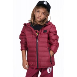 BODYACTION BOYS QUILT PADDED JACKET WITH HOOD 074903-01 Maroon