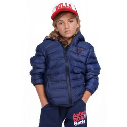 BODYACTION BOYS QUILT PADDED JACKET WITH HOOD 074903-01 Navy Blue