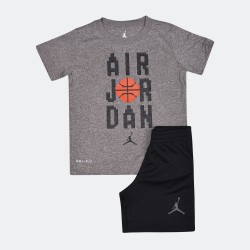 JORDAN JDB AIR JORDAN PIXL T SHORT SET 854815-023 Μαύρο