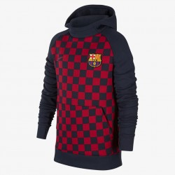 NIKE FC Barcelona Older Kids' Fleece Pullover Hoodie AT4494-451