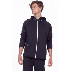 BODYACTION MEN GYM TECH ZIP HOODIE 073916 BLACK