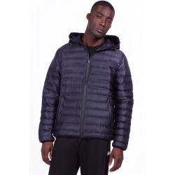 Body Action Men Quilt Padded Jacket With Hood (073926-Black)