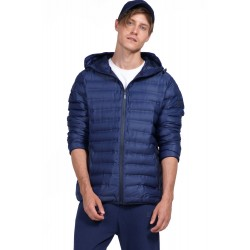Body Action Men Quilt Padded Jacket With Hood (073926-Navy)