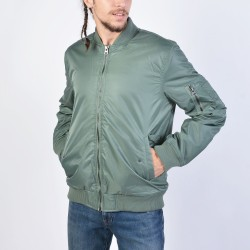 Body Action Vintage Bomber Jacket 073927 - Light Khaki