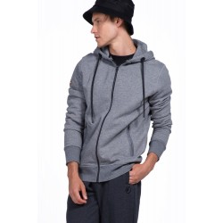 Body Action Hooded Sweat Jacket - Ανδρική Ζακέτα 073928 - Light Grey