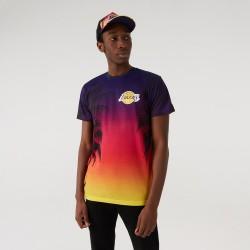 New Era Los Angeles Lakers Coastal Heat allover Print Tee 11569521