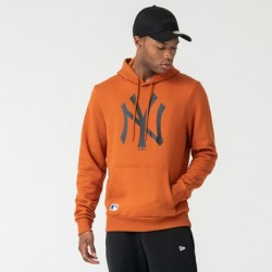 NEW ERA NEW YORK YANKEES LOGO RUST PULLOVER HOODIE 12033506