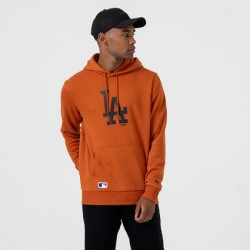 NEW ERA LOS ANGELES DODGERS LOGO RUST PULLOVER HOODIE 12033510