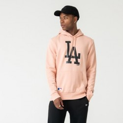 NEW ERA LOS ANGELES DODGERS LOGO PINK PULLOVER HOODIE 12033512