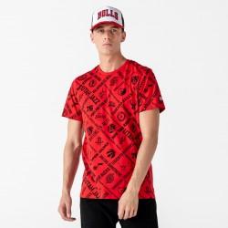 New Era AOP NBA Logo Red T-Shirt 12195412