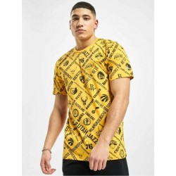 New Era AOP NBA Logo Yellow T-Shirt 12195413