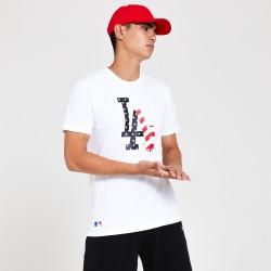New Era Los Angeles Dodgers LOGO INFILL WHITE T-SHIRT 12369843