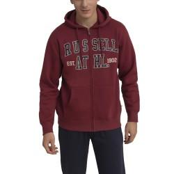 Russell Athletic 1902 - ZIP THROUGH HOODY A0-016-2-469 Μπορντό