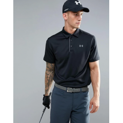 Under Armour Polo UA Tech 1290140-001 Μαύρο
