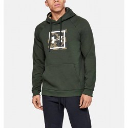 UNDER ARMOUR RIVAL FLEECE PRINTED HOODIE (1345636-310)