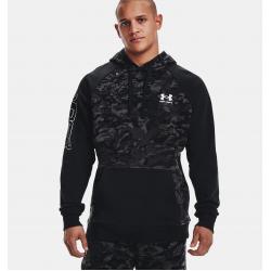 Under Armour Rival Fleece Ανδρική Μπλούζα με Κουκούλα 1366308-001 Black/Onyx White