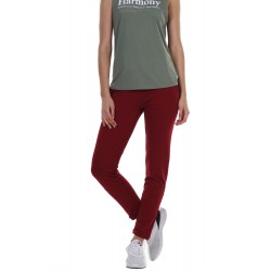 BODY ACTION WOMEN'S SKINNY JOGGERS 021134 D.RED