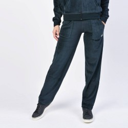 Body Action Basic Velour Pants - Γυναικεία Φόρμα 021959 ΒLΑCΚ