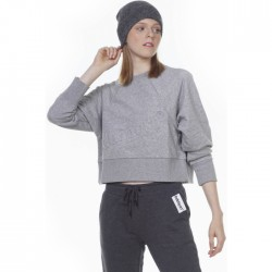 Body Action Woman Sweatshirt 061006-01 ΜΕΛΑΝΖΕ