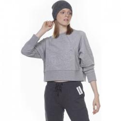 Body Action Woman Sweatshirt 061006-01 ΜΕΛΑΝΖΕ