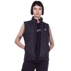 WOMEN PUFFY VEST (071002 BLACK-01) ΜΑΥΡΟ