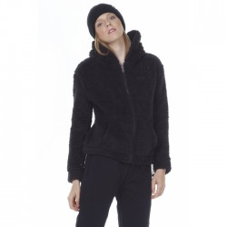 Body Action Sherpa Zip Hoodie (071009-BLACK)