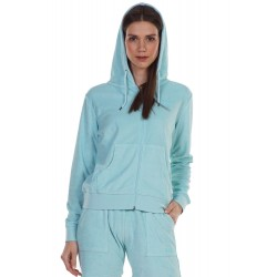 BODY ACTION - WOMEN'S TERRY HOODIE JACKET 071120-01 L.BLUE