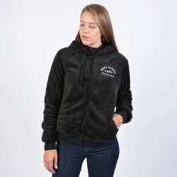 Body Action - Women Sherpa Hoodie - 071933-Black