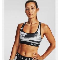Under Armour® Mid Crossback Print Sports Bra 1307213-024